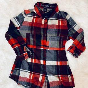 Comfy Flannel Top-S **D350**